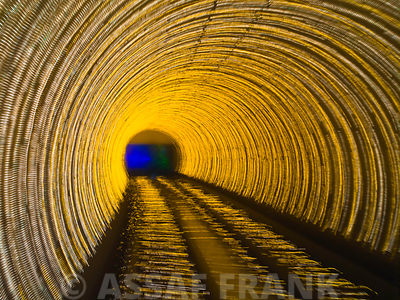 China, Shanghai, The Bund, Bund sightseeing tunnel (blurred motion)