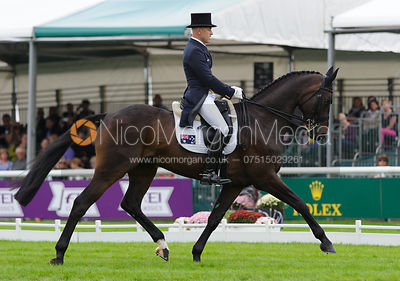 Andrew Hoy and RUTHERGLEN - dressage phase,  Land Rover Burghley Horse Trials, 4th September 2014.
