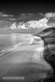 Rhossili Bay Black and White Print BP3589BW