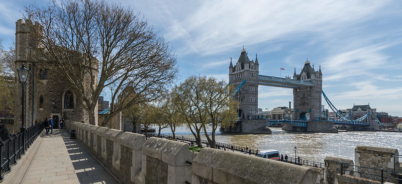 Tower Bridge Viewed from Tower of London Wall