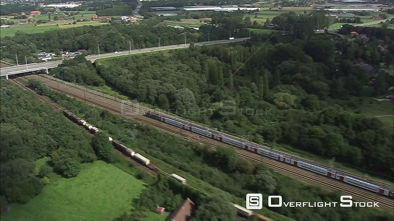 Commuter Train ICtrein VlaamsBrabant Belgium