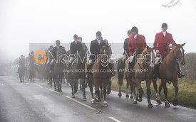 The Cottesmore Hunt at the Blue Ball 11/12