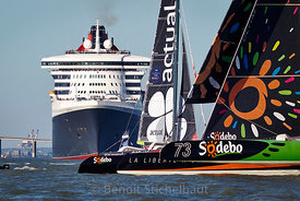 The Bridge 2017 - Saint-Nazaire le 25 juin 2017 - Départ de la Transat du centenaire - Queen Mary 2 et Trimarans Ultime - Act...