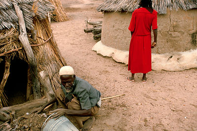 Asumpaheme and Anafo work in their compound