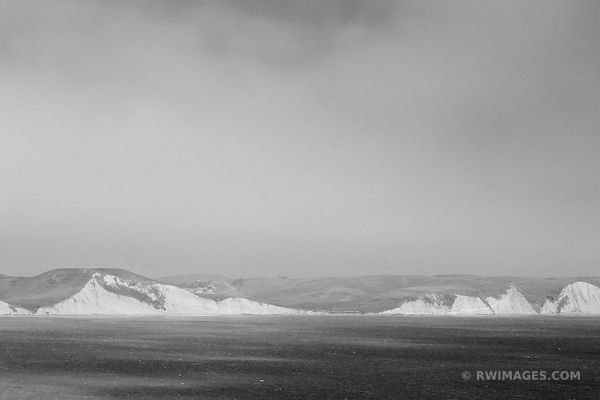 DRAKES BAY POINT REYES NATIONAL SEASHORE CALIFORNIA BLACK AND WHITE