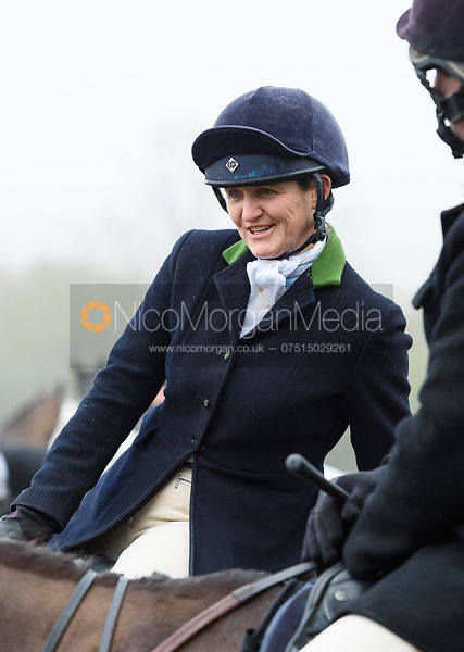 Polly Stockton At the meet. The visit of the Wynnstay Hounds to the Cottesmore 27/11