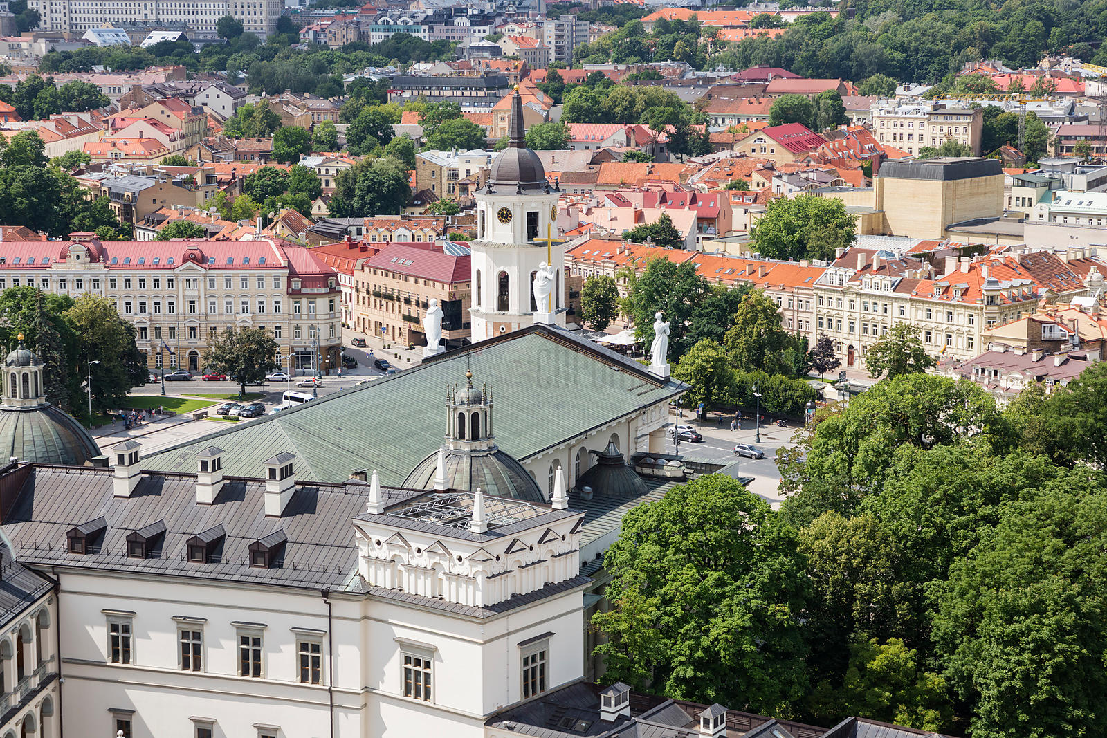 Elevated View of the Cathedral from the Castle of the Grand DSuke Gediminas