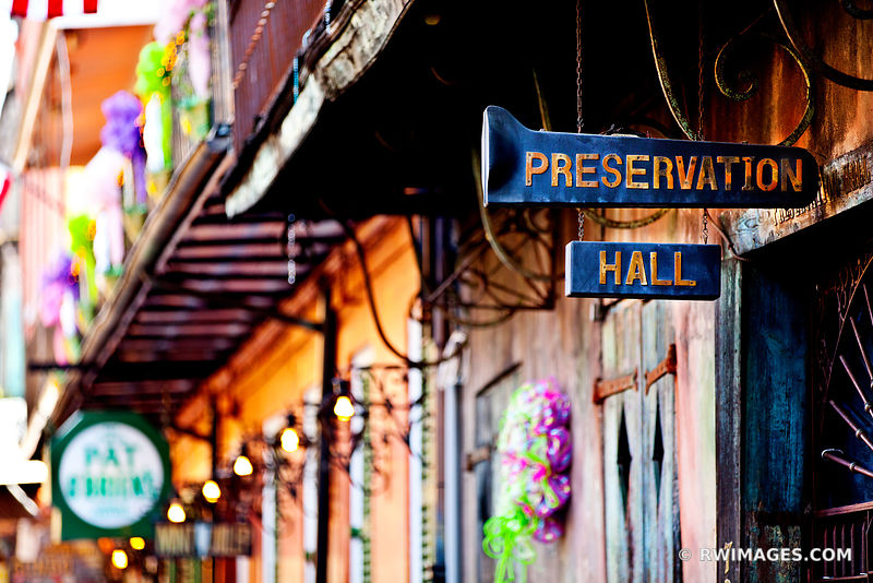 PRESERVATION HALL FRENCH QUARTER NEW ORLEANS LOUISIANA