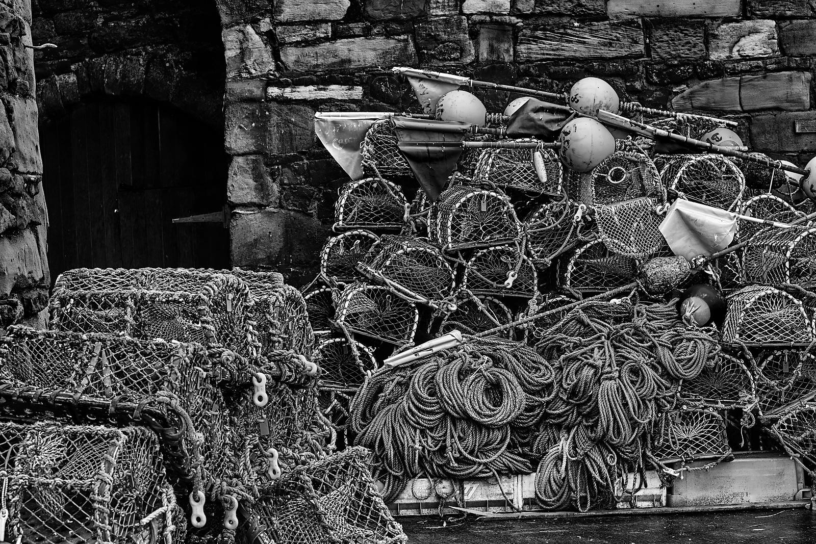 More lobster pots (B&W)