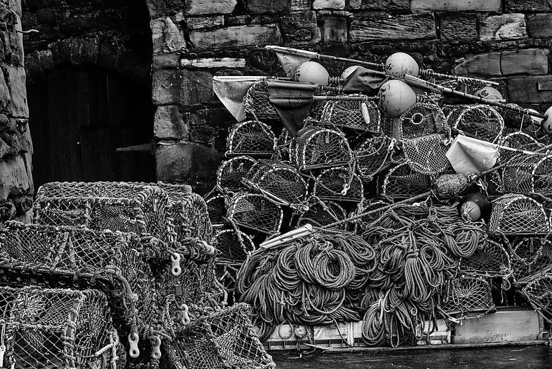 Lobster pots (Black and White)