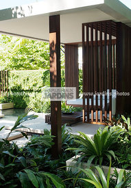 Asiatic garden, Contemporary furniture, Exotic garden, Garden construction, Garden furniture, Resting area, Tropical garden, ...