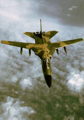 USA -- 1967 -- An F-111 bomber in flight, also known as an 'Aardvark' -- Picture by Lightroom Photos / USAF *NB This image is...