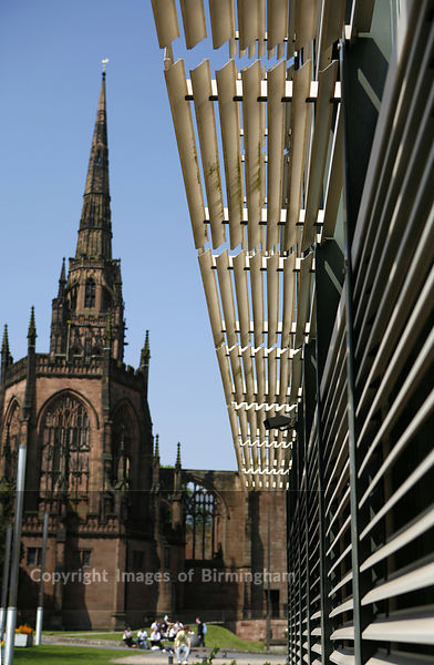 Coventry University, West Midlands, England. Cathedral in background.