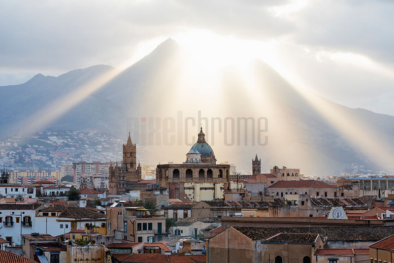 View of the Palermo Skyline from the Roof of the Ambasciatori Hotel