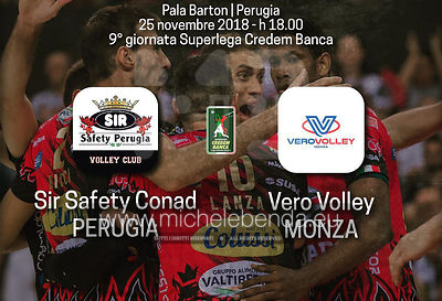 Pallavolo SuperLega 9ª giornata: Sir Safety Perugia - Vero Volley Monza