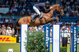 22/07/18, Aachen, Germany, Sport, Equestrian sport CHIO Aachen 2018 - Rolex Grand Prix,  Image shows Mark MCAULEY (IRL) ridin...