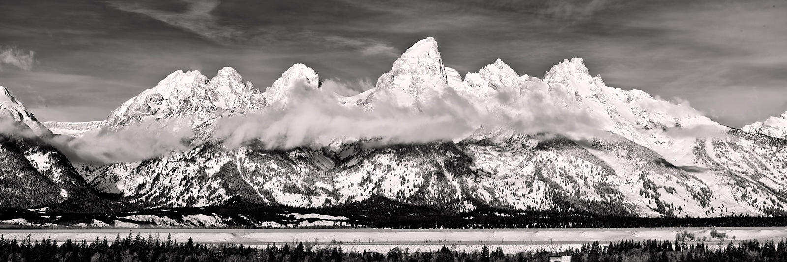 Teton Range Winter Panorama