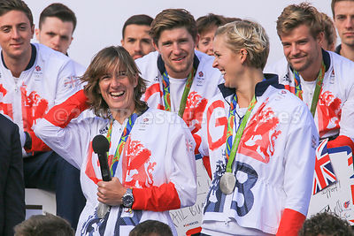 Dr Katherine Grainger with her Sculls partner Victoria Thornley