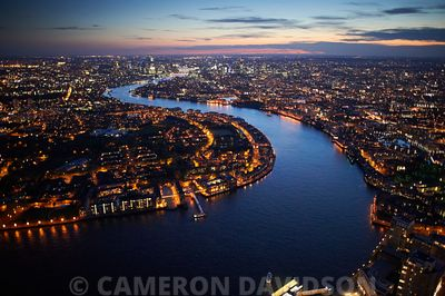 Aerial London Canary Wharf