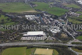 Bury aerial photograph of Bridgehall Industrial Park junction 2 of the M66 motorway