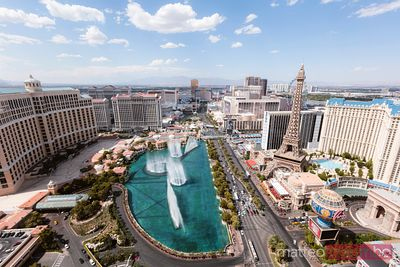 Elevated view of Las Vegas at daytime, USA