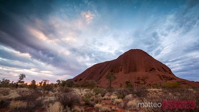 Uluru (Ayers rock) at sunset Australia