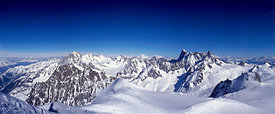 French Alps seen from the Aiguille du Midi