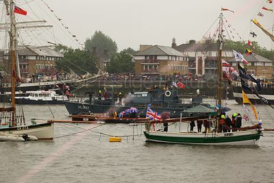 Boadicea CK 213 and ML1387 HMS Medusa in The Thames River Pageant