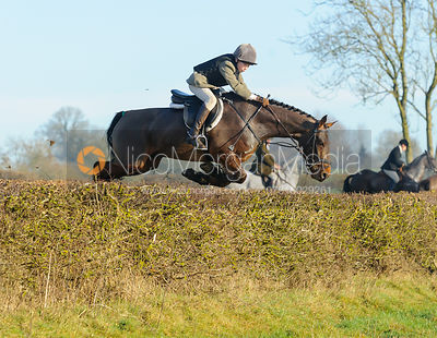 jumping a hedge on Alma Bank