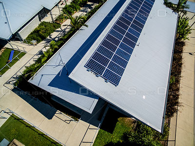 Solar Panels on School Roof Federal Australia