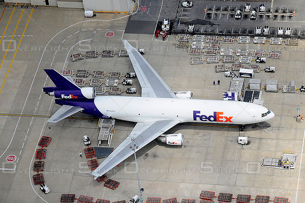 Air-to-air photos of Fed Ex Jets Memphis Tennessee