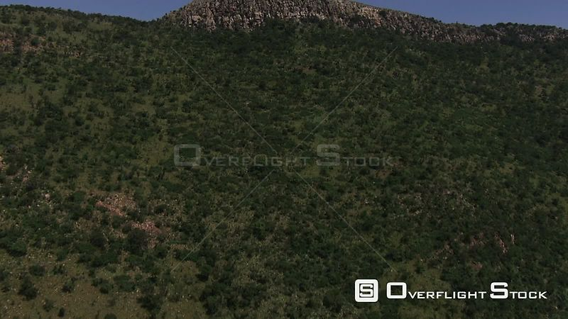 Aerial shot of mountainous terrain North West South Africa