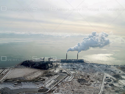 Nanticoke Generating Station in Southern Ontario on Lake Erie