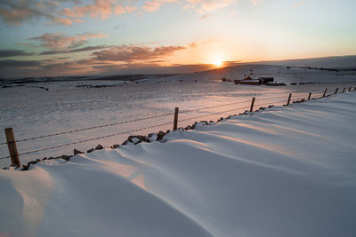Late winter sunrise on Longstone Moor