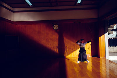 Japan - Kyoto - An archer at the Kyoto dojo