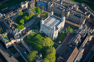 Aerial view of the Tower of London, London
