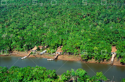Riverside Houses in Amazon Estuary Brazil