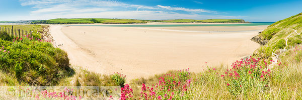BP6166 - Panoramic view of the Camel Estuary near Padstow