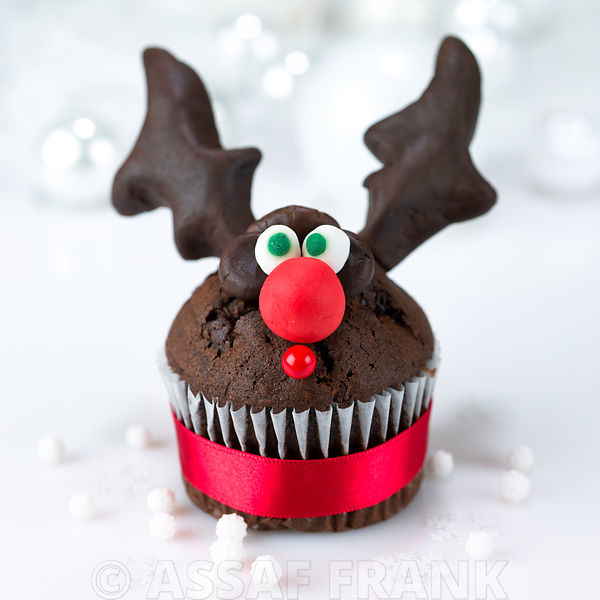 Rudolf the reindeer christmas muffin
