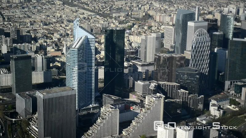City center with the skyline La Defense in downtown area in Puteaux in Ile-de-France, France