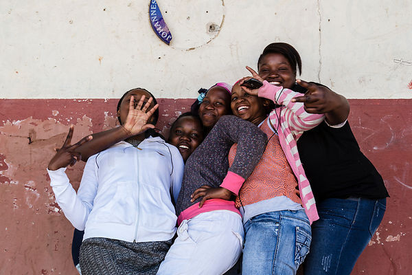 Young Women Playing around in Kliptown