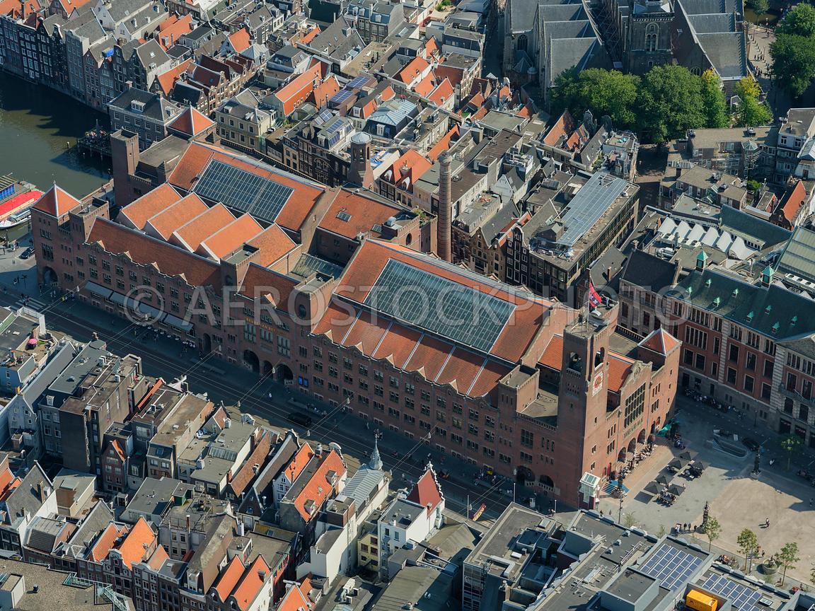 Aerial View Amsterdam The Beurs Van Berlage Was Designed
