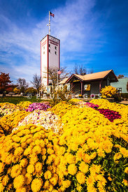Frankfort Illinois and Frankort Grainery with Flowers