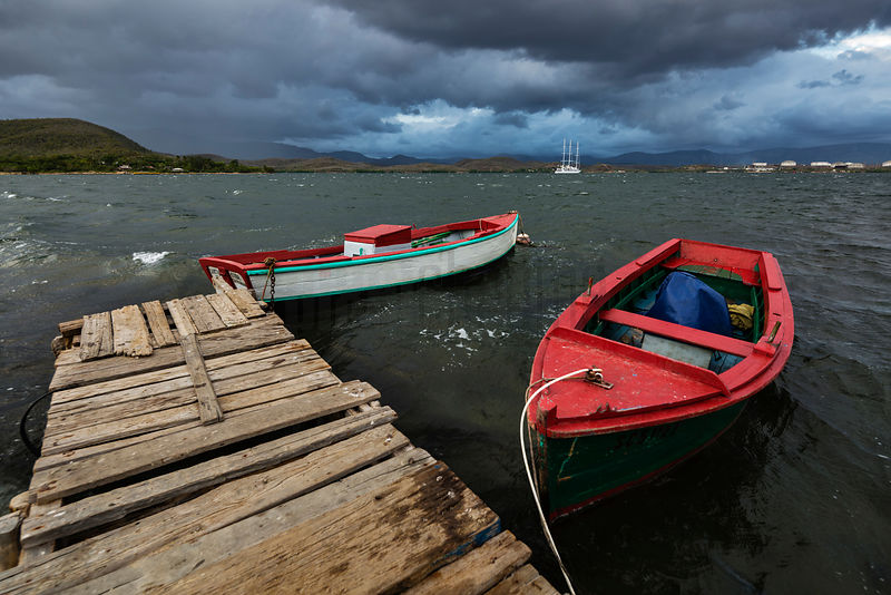 Approaching Storm at Cayo Granma.