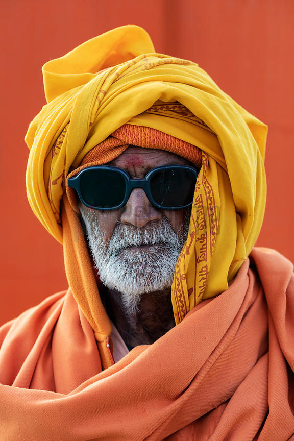 Sadhu Wearing Dark Glasses