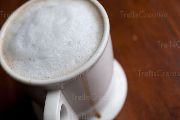 Nonfat Latte with Coffee Drip
