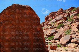 Petroglyphs on boulder on side of Cerro Tonka near La Palca Grande, Nor Cinti, Chuquisaca Department, Bolivia