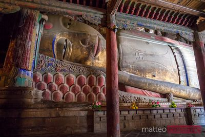 Giant reclining Buddha temple, Zhangye, China