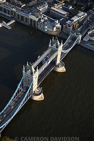 Aerial photograph of Tower Bridge, London