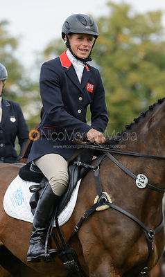 Izzy Taylor and KBIS BRIARLANDS MATILDA - show jumping phase, Burghley Horse Trials 2014.